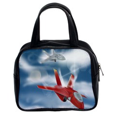 America Jet Fighter Air Force Classic Handbag (two Sides)