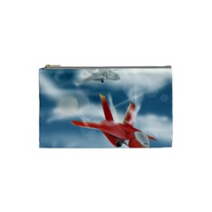America Jet Fighter Air Force Cosmetic Bag (small) by NickGreenaway
