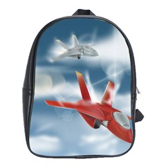 America Jet Fighter Air Force School Bag (large) by NickGreenaway