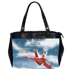 America Jet Fighter Air Force Oversize Office Handbag (two Sides)