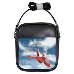 America Jet Fighter Air Force Girl s Sling Bag by NickGreenaway