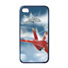 America Jet Fighter Air Force Apple Iphone 4 Case (black) by NickGreenaway