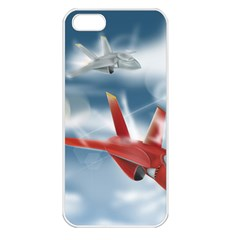 America Jet Fighter Air Force Apple Iphone 5 Seamless Case (white) by NickGreenaway