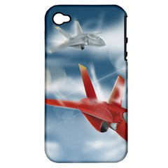 America Jet Fighter Air Force Apple Iphone 4/4s Hardshell Case (pc+silicone) by NickGreenaway