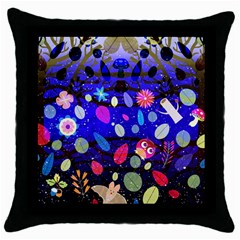 Magic Glade Black Throw Pillow Case by Contest1848470