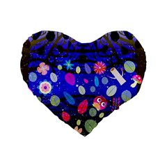 Magic Glade 16  Premium Heart Shape Cushion  by Contest1848470