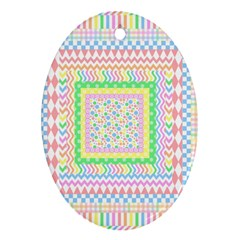 Layered Pastels Oval Ornament by StuffOrSomething