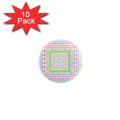 Layered Pastels 1  Mini Button Magnet (10 Pack) by StuffOrSomething