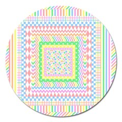 Layered Pastels Magnet 5  (round) by StuffOrSomething