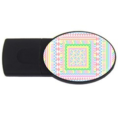 Layered Pastels 2gb Usb Flash Drive (oval) by StuffOrSomething