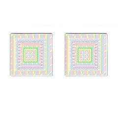 Layered Pastels Cufflinks (square) by StuffOrSomething
