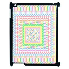 Layered Pastels Apple Ipad 2 Case (black) by StuffOrSomething