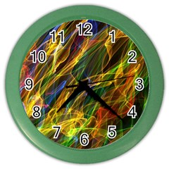 Colourful Flames  Wall Clock (color) by Colorfulart23