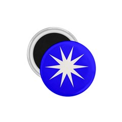 Deep Blue And White Star 1 75  Button Magnet by Colorfulart23