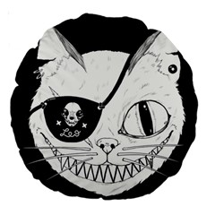 Cat Pirate s Life For Me 18  Premium Round Cushion  by Contest1879409