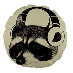 Raccoon 18  Premium Round Cushion  by Contest1879409