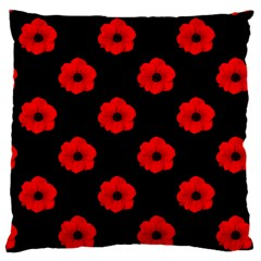 Poppies Large Cushion Case (single Sided)  by Contest1879409