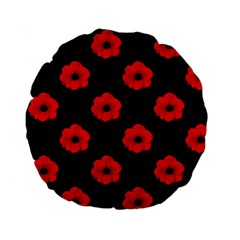 Poppies 15  Premium Round Cushion  by Contest1879409