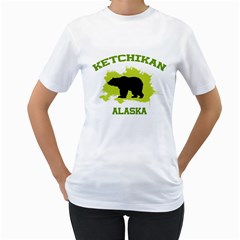 Ketchikan  Ak Women s Two Sided T Shirt (white)