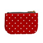 White Stars On Red Coin Change Purse Back