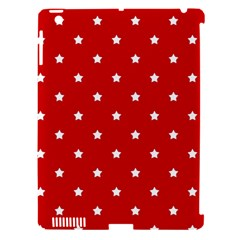 White Stars On Red Apple Ipad 3/4 Hardshell Case (compatible With Smart Cover)
