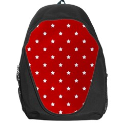 White Stars On Red Backpack Bag by StuffOrSomething