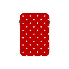 White Stars On Red Apple Ipad Mini Protective Sleeve by StuffOrSomething