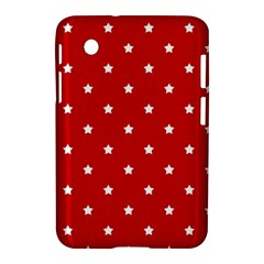 White Stars On Red Samsung Galaxy Tab 2 (7 ) P3100 Hardshell Case  by StuffOrSomething