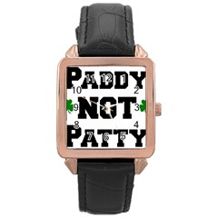 Paddynotpatty Rose Gold Leather Watch  by Shannairl