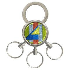 Abstract 3 Ring Key Chain by Siebenhuehner