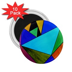 Abstract 2 25  Button Magnet (10 Pack) by Siebenhuehner