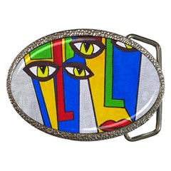 Face Belt Buckle (oval)
