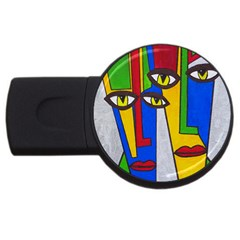 Face 2gb Usb Flash Drive (round)