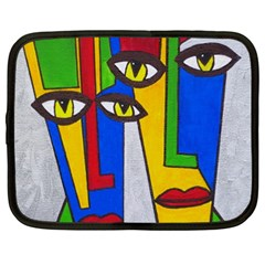 Face Netbook Sleeve (xxl) by Siebenhuehner