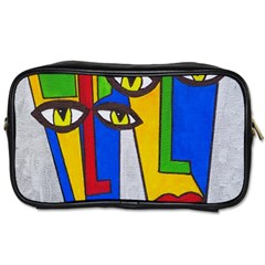 Face Travel Toiletry Bag (one Side) by Siebenhuehner