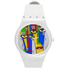 Face Plastic Sport Watch (medium) by Siebenhuehner