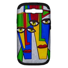 Face Samsung Galaxy S Iii Hardshell Case (pc+silicone) by Siebenhuehner