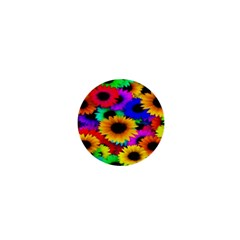 Colorful Sunflowers 1  Mini Button by StuffOrSomething