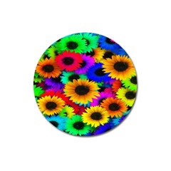 Colorful Sunflowers Magnet 3  (round) by StuffOrSomething