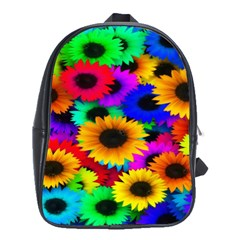 Colorful Sunflowers School Bag (large) by StuffOrSomething