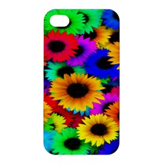 Colorful Sunflowers Apple Iphone 4/4s Premium Hardshell Case by StuffOrSomething