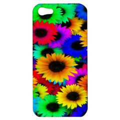 Colorful Sunflowers Apple Iphone 5 Hardshell Case by StuffOrSomething