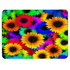 Colorful Sunflowers Samsung Galaxy Tab 7  P1000 Flip Case by StuffOrSomething