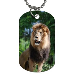 Regal Lion Dog Tag (two Sided)  by AnimalLover