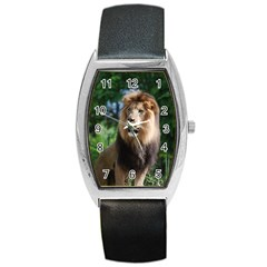 Regal Lion Tonneau Leather Watch by AnimalLover