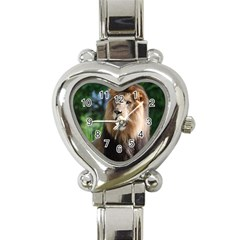 Regal Lion Heart Italian Charm Watch  by AnimalLover