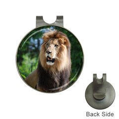 Regal Lion Hat Clip With Golf Ball Marker by AnimalLover