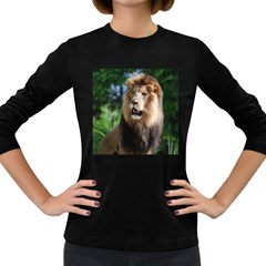 Regal Lion Women s Long Sleeve T Shirt (dark Colored)