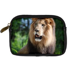 Regal Lion Digital Camera Leather Case by AnimalLover