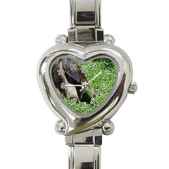 Giant Anteater Heart Italian Charm Watch  by AnimalLover